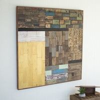 Recycled Wood Patch Wall Panel
