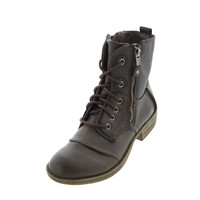 American Rag Womens Bunkker Lace-Up Booties Combat Boots