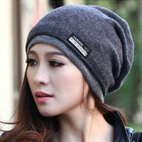 2015 High Quality  Warm Wool Caps Knitted Beanies Hat Infinity Scarf Winter Skullies Cap For Woman and Men
