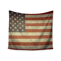 """Bruce Stanfield """"Flag of US Retro"""" Rustic Wall Tapestry"""