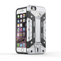 Cool Hybrid Case for iphone 5 5s 6 6s Plus Luxury Hard PC Back Cover Card Slot Flexible Armor for samsung galaxy S7 Edge Note 5