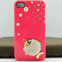 fish pearls iphone 5s iphone 5c case iphone 4 case iphone case iPhone cover iphone 5 case iphone 3 case 14 color choices
