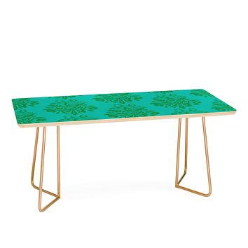 Morgan Kendall kelly green lace Coffee Table
