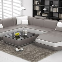 Large Modern Leather Sectional - Opulentitems.com