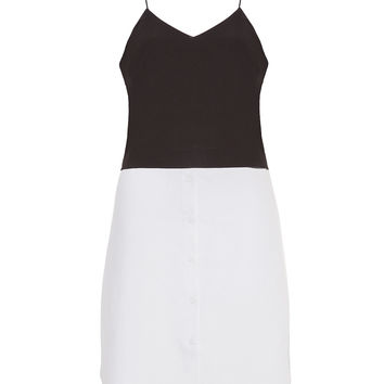 Button Me Up Baby Black and White Dress