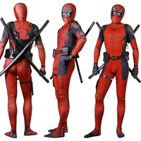 3D print deadpool unisex cosplay costumes for kids adult bodysuit costumes for Halloween purim party event