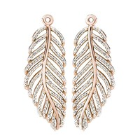 PANDORA Rose Light As A Feather CZ Earring Charms