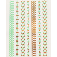 Mint Gold Border Metallic Tattoo
