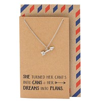 Cassidee Arrow Charm Necklace, Graduation Gifts