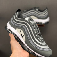 HCXX 19June 1026 Nike Air Max 97 Have A Nike Day Retro bullet all-ball air cushion versatile running shoes for casual sports grey