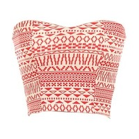 Coral Tribal Crop Top