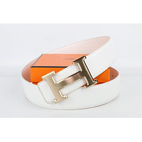 Hermes belt men's and women's casual casual style H letter fashion belt519