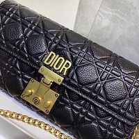 DIOR Fashion New Women's Embroidered Chain Bag Shoulder Crossbody Bag