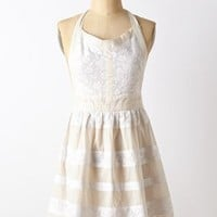 Stripe-Up Apron by Anthropologie White One Size Aprons