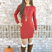 PIKO Can't Live Without You Dress: Rust