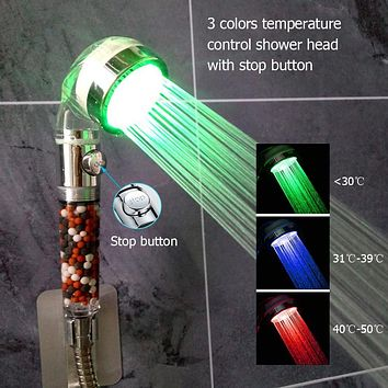 Color Changing And Purifying Shower Head by Usable Craft