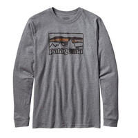 Patagonia Men's Long Sleeved Spruced '73 Tee- Gravel Heather