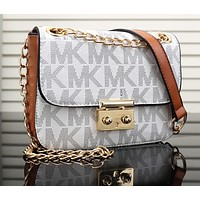 Mk Women Shopping Bag Leather Satchel Crossbody Shoulder Bag-17
