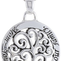 """""""Mom You Are The Heart Of Our Family"""" Tree Pendant Necklace , 18"""""""