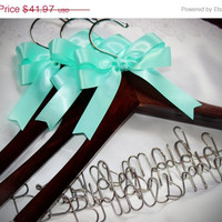 ON SALE Set of 3 - Personalized bridesmaid gift, bridesmaid hanger,  ask your bridesmaid, bridal party hanger,  wedding hanger, wedding dres