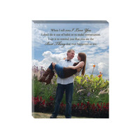 11x14 Canvas Lyrics, Vows, Quote- Photo Canvas personalized with your wedding vows, favorite quote, or song lyrics