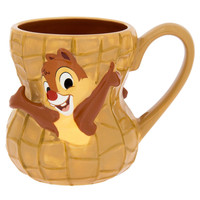 disney parks chip 'n dale nut ceramic coffee mug cup new