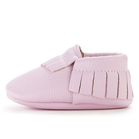 BIRDROCK BABY LAVENDER GENUINE LEATHER BABY MOCCASINS