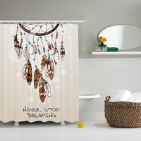 Native Feathered Dreamcatcher Shower Curtains