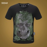 Philipp Plein Black Men Fashion T-Shirt Top Tee