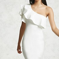 One-Shoulder Mini Bodycon Dress