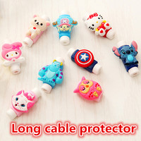 FFFAS Cute Cartoon Cable Protector cabo USB Cable Winder Cover Case accessories For IPhone 5 5s 6 6s 7 plus cable Protect stitch