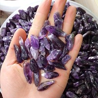 Pure Tumbled Amethyst Crystals