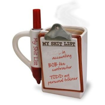 Big Mouth Toys The Shit List Mug