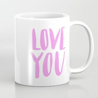 love you - purple lettering Mug by Allyson Johnson | Society6