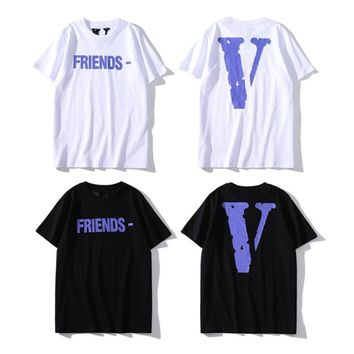Fashion VLONE double-sided exclusive LOGO printed cotton neutral T-shirt