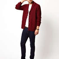 New Look  Cardigan with Cable Knit at asos.com