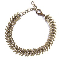 Spine Skeleton Bracelet - Brass
