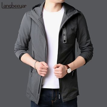 Trendy 2018 New Fashion Jackets For Men Long Japanese Street Fashion Trend Overcoat Slim Fit Windbreakers Casual Coat Mens Clothing AT_94_13