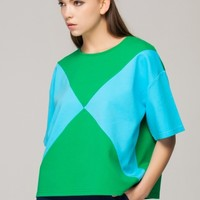 Relaxed colour block top