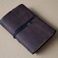 Leather journal leather notebook travel journal by BrotherWorks
