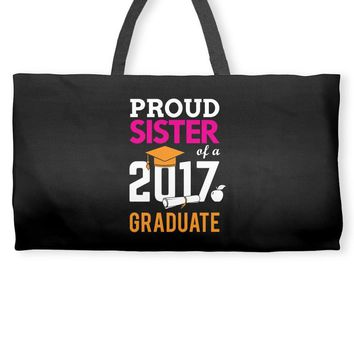 Class of 2017 Proud Sister Graduation Weekender Totes