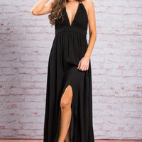 The Lucky Charm Maxi Dress, Black
