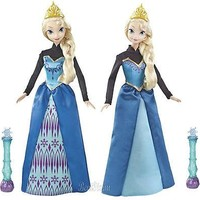 Licensed cool NEW Disney Frozen COLOR MAGIC ELSA W/WAND Color Changing Dress Toy Fashion Doll