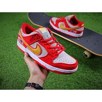 Nike SB Dunk Red White Shoes