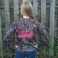 Signature Series Pink Camo Performance Long Sleeve Shirt