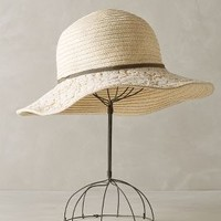 Garden Party Crochet Hat by Anthropologie Cream One Size Accessories
