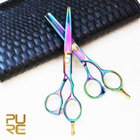 "PURC Professional Stainless Steel 6"" Hair Cutting Scissors & Hair Thinning Scissors Set"