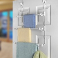 3 Rack Towel Holder for Over the Door use is a college dorm room must have essential product that can also be called OTD towel holder
