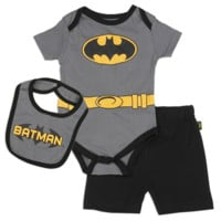 Batman Newborn Baby Boy's 3-Piece Set