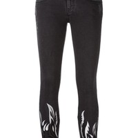 Filles A Papa Tribal Embroidery Cropped Trousers - Julian Fashion - Farfetch.com